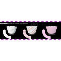 Wrappers De Cartulina Para Cupcake Pack 12 Unidades