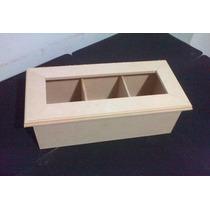 Cajas De Te Vidrio X 3 Div. Fibrofacil Artesania Decorar