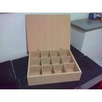 Cajas De Te X 12 Divisiones Fibrofacil Artesania Decorar