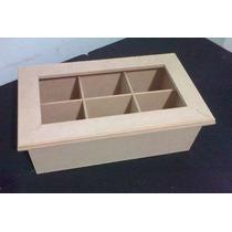 Cajas De Te Vidrio X 6 Div. Fibrofacil Artesania Decorar