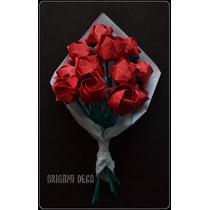 Regalo Dia Dela Madre! Ramos 12 Rosas De Papel- Origami Deco