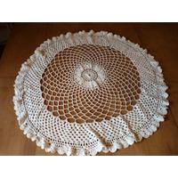 Antigua Carpeta Centro De Mesa De Crochet Tejido A Mano 0.65