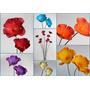 Amapolas Ramos De 12 Flores Grandes En Foami Varios Colores