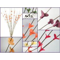 Flores Mariposas De Porcelana Ramo De 60 Flores En 20 Varas