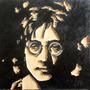 John Lennon Cuadro De Madera Tallado Para Colgar