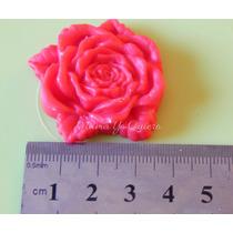 Molde Caucho De Silicona Flexible Rosa Con Hojas