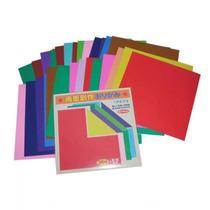 Papel Para Origami Bifaz-liso (74 Hojas) Importado De Japon