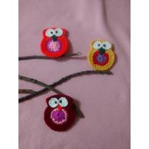 Imanes Buhos, Tejidos Al Crochet. Ideal Souveniers Y Deco