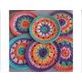 Posavaso Mini Mandala Crochet Cocina Decoración