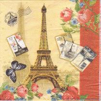 Servilletas Decoupage X 50 Unid. 3 Diseños Torre Eiffel Surt