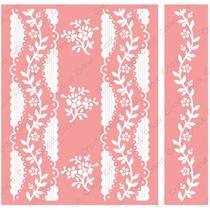 Cuttlebug Set 1 Carpeta Texturadora + 1 Borde Organdy Stripe