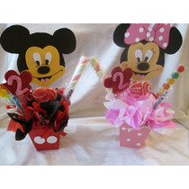 Centros De Mesa Mickey Y Minnie Artesaniascristalin