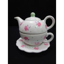 Tea For One Taza Tetera Y Cucharita Para Niñas