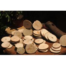 Rodajas De Madera. Artesanías/souvenir. Accesorios En Tronco