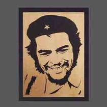 Cuadro Che Guevara, Fidel Castro, Hugo Chavez Calado Madera