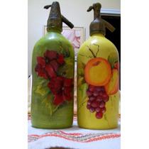 Sifones De Vidrio Pintados Bien Artesanales Y Decorativos