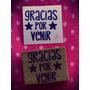 Sellos Artesanales Gracias Por Venir Scrapbooking Tarjeteria