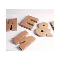 Artículos De Diseño - Letras, Números Y Símbolos En Cartón