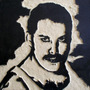 Quenn Freddie Mercury Cuadro De Madera Tallado Para Colgar