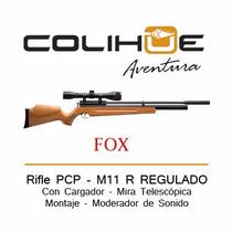 Rifle Pcp Fox M 11 R - Regulado Mira Cargador (20 Tiros)