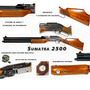 Rifle Sumatra 2500 500 Cc Verdadera Potencia Cal 5,5 Y 6,35