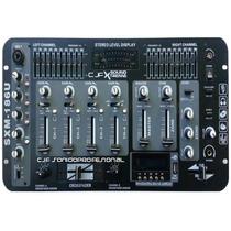 Mixer Dj Stereo 7 Ch Usb Mp3 Equalizador Efectos Luxell 186