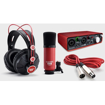 Focusrite Scarlett Studio Set Grabacion Audio Usb Kit 2i2