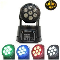 Cabezal Movil Wash 7 Led 8w Rgbw Dmx Big Dipper 1 Año Gtia