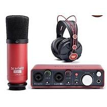 Kit Set De Grabación Focusrite Scarlett Studio 2i2 Usb Placa