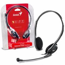 Auriculares Genius Vincha C/ Microfono! Hs-200c Skype Pc