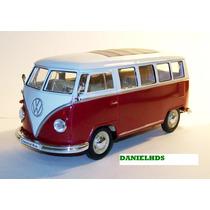 Volkswagen Classical Bus 1962 Camioneta Vw Esc 1/24 Metal