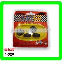 Ruedas Para Auto De Rally Slot 1:32 Marca Sk 97016