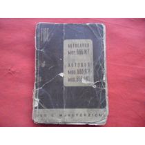 Antiguo Fiat Camion Colectivo Manual Instrucciones Original