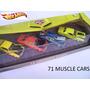 Hot Wheels 71 Muscle Cars Estuche X4 Rueda Goma Solo Envios