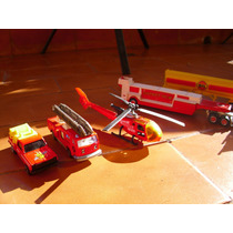 Set 5 Autitos Mojorette Metal Helicoptero Made In France