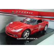 Corvette C6 2005 - Color Rojo - Motormax 1/24
