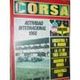 Revista Corsa Anuario 3 Actividad Internacinal 1966 Autos