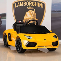 Lamborghini 12 Cuotas Auto A Bateria Con Control Remoto Mp3