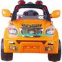 Jeep A Bateria Con Radio Control Espectacular Motor Con Luz
