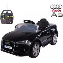 Auto A Bateria Audi A3 Radio Control 12v Mp3 Y Luces Jiujim