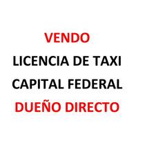 Vendo Licencia De Taxi 2011