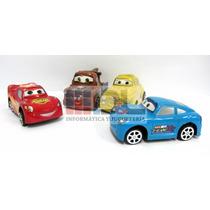 Autos Cars Disney Pixar X4 Rayo Mate Grandes 12cm A Fricción