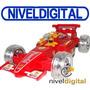 Auto Radio Control Rojo Formula 1 Gira 360 Luces Ruedas