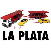 Camión Mosquito Con 4 Autos Welly De Metal Escala 1/60 Nuevo