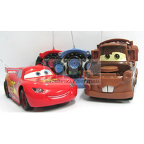 Auto Cars2 Rayo Mc Queen O Mate Grande 23 Cm Rc Full Volante