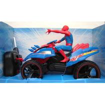 Cuatriciclo Spiderman 2 C/muñeco Radio Control Action Squad