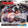 Avengers Hot Wheels-autitos De Capitán America Y War Machine