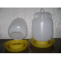 Bebedero Plástico. 4 Litros Plato A Rosca. Somos Fabricantes