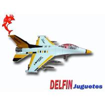 Aviones De Guerra De Metal A Fricción Escala 1:80 Luz Sonido