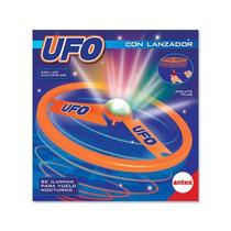 Ufo Con Lanzador Antex Plato Volador Con Luces Mundo Manias